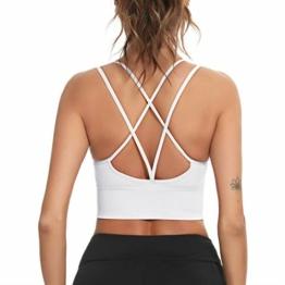 Enjoyoself Damen Sport BH ohne Bügel Push Up Sport Bra Gepolstert Bustier mit Schnüre am Rücken Leicht BH Top für Yoga Fitness - 1