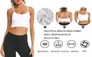 Enjoyoself Damen Sport BH ohne Bügel Push Up Sport Bra Gepolstert Bustier mit Schnüre am Rücken Leicht BH Top für Yoga Fitness - 4