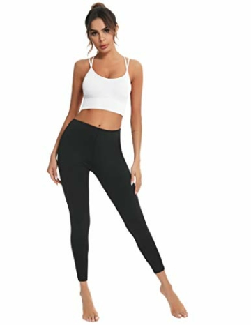 Enjoyoself Damen Sport BH ohne Bügel Push Up Sport Bra Gepolstert Bustier mit Schnüre am Rücken Leicht BH Top für Yoga Fitness - 5