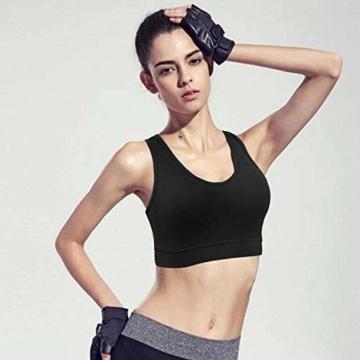 HBselect 3stk Sport BH Bustier Damen Bralette Nathloser mit Polstern Sportbekleidung ohne Bügel atmungsaktiv Joggen Yoga Jumping Fitness - 5