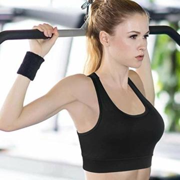 HBselect 3stk Sport BH Bustier Damen Bralette Nathloser mit Polstern Sportbekleidung ohne Bügel atmungsaktiv Joggen Yoga Jumping Fitness - 7