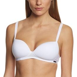 Skiny Damen Bügelloser BH Essentials Women Da. Schalen o. Bügel, Einfarbig, Gr. 75B, Weiß (WHITE 0500) -