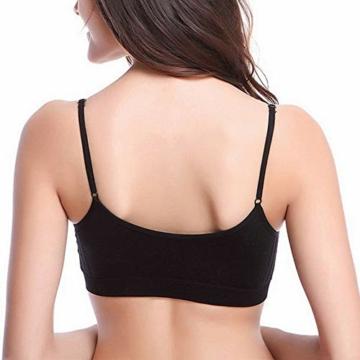 Vertvie Womens Strech Duenn Ohne Buegel Push up Yoga Sports BH Bra Top Set Fuer Fitnesstraining Polsterung 2er/3er Pack (Größe S/Etiketten M, 3 Schwarz) - 5