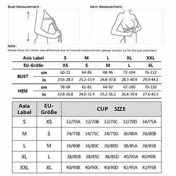 Vertvie Womens Strech Ohne Buegel Push up Yoga Sports BH Bra Top Set Fuer Fitnesstraining Polsterung 3er Pack (EU L/Tag XL, Schwarz+Rosa+Weiß) - 6